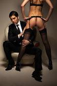 Empresario y prostituta — Foto de Stock