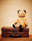 Childhood Nostalgia Teddy Bear — Stock Photo
