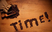 Freshly Roasted Coffee Beans Time — Stock Photo