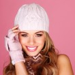 Smiling Woman In Winter Accessories — Stock Photo #8909085