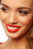 Beautiful Smile With Beautiful Teeth — Stock Photo