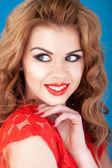 Pretty Redhead Glancing Sideways — Stock Photo