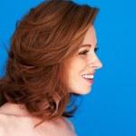Profile Pretty Redhead Woman — Stock Photo