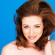 Smiling Woman With Auburn Hair — Stock Photo