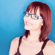 Smiling Confident Woman In Glasses — Stock Photo #9576443