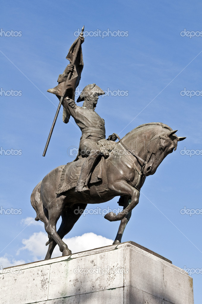 Monument to General Manuel Belgrano in Lujan, Buenos Aires, Argentina.  Stock Photo #8682151