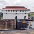 Stock Photo: PanamCanal, Miraflores locks.