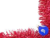 Azul rojo y bola de decoración de la navidad. — Foto de Stock