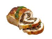 Stuffed Chicken roll with mushrooms. — Stock Photo