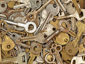 A lot of old metal keys. — Stock Photo