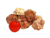 Roasted meat and tomato. — Stock Photo