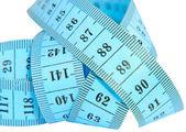 Blue measuring tape. — Stock Photo