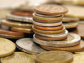Stack of different coins. — Stock Photo
