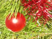 红色圣诞球. — 图库照片