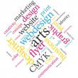 Stock Vector: Marketing communication word cloud.