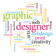 Graphic designer. Print concept word cloud. - Stock Vector