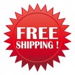 Free shipping ! Red website vector icon. — Stock Vector #10100873