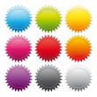 Vector de stock : Promotional stickers. Colorful vector collection.