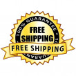 100% guarantee free shipping. Golden label. — Stock Vector