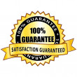 100% guarantee. Satisfaction guaranteed golden icon. — Imagens vectoriais em stock