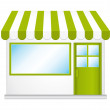 Little cute organic store shop. Vector icon. — Stock Vector #10101033