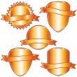 Golden labels and shields collection. - Stock Vector