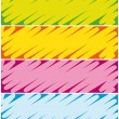 Colorful highlighter banners. Commercial headers collection. — Stock Vector