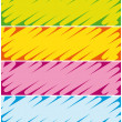 Colorful highlighter banners. Commercial headers collection. — Vettoriali Stock