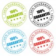 100% Guarantee. Vector stamps set. — Stock Vector