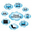 Cloud computing. Vector illustration. - Grafika wektorowa