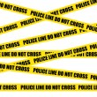 Police line. Do not cross. Crime scene vector background. - Stock Vector