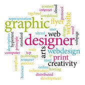 Graphic designer. Print concept word cloud. — Stock Vector