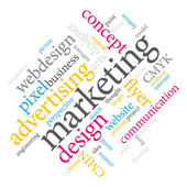 Marketing word cloud. — Stockvektor