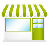 Little cute organic store shop. Vector icon. — Stock Vector