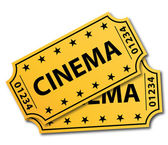 Two cinema tickets. Vector illustration. — Stock Vector