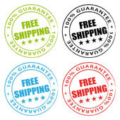 Free shipping stamps vector collection. — Stock Vector