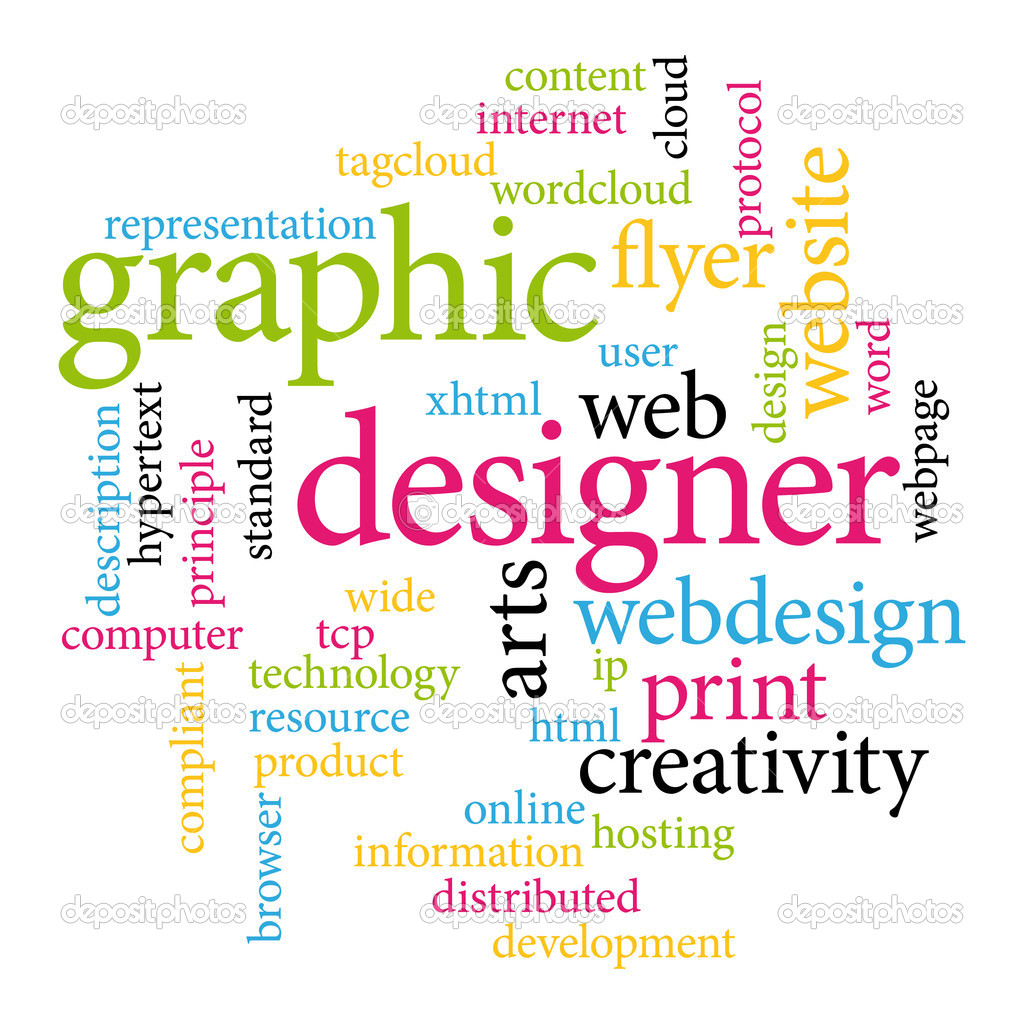 Graphic designer. Print concept word cloud.  — Stock Vector #10100808