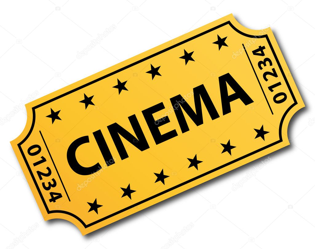 One single cinema ticket. Vector icon.  — Stock Vector #10101087