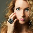 Young Blonde Woman Beauty Portrait Studio Shot — Stock Photo #10061451