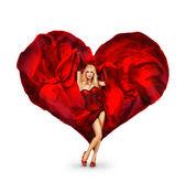 Dame de coeur — Photo
