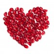 Stock Photo: Heart shaped pomegranate seeds