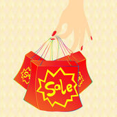 Hot sale bag — Stock Photo