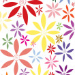 Corrugated flowers background - Stock Vector