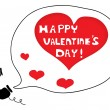Stockvector : Call to say Happy Valentine's Day
