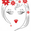 Royalty-Free Stock Vector Image: Lovely simple girl\'s face