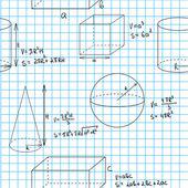 Maths seamless pattern — Stock Vector