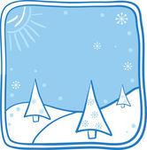 Ilustración de dibujos animados de navidad — Vector de stock