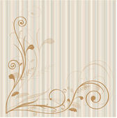 Old-fashioned background with swirls — Stock Vector