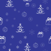 Blue seamless christmas pattern — Stock Vector