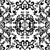 Black floral seamless pattern — Stock Vector